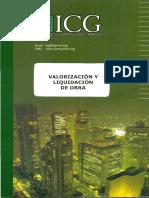 2016 eBook Libro de ICG - Valorizacion y Liquidacion Obras -Ing Salinas