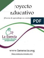Proyecto Educativo LA ESENCIA 2017