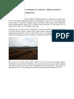 Laporan Kunjungan Lapangan Tol Sumatra
