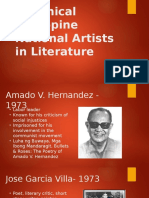 Canonical Philippine National Artists in Literature