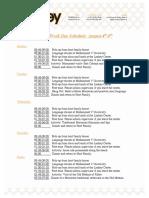 Lankey Sample Schedule