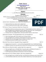 practicum resume