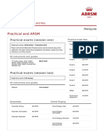 Dates and Fees ABRSM