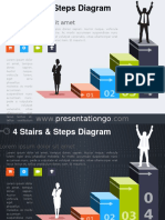 4 Stairs Steps PowerPoint Diagram PGo