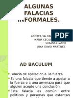 ALGUNAS FALACIAS INFORMALES