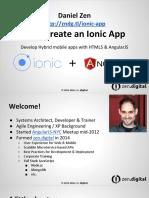 Create an Ionic App