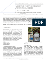 Assessment of Ambient Air Quality Monitoring in Traffic Junctions, Vellore