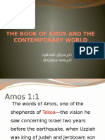 The Book of Amos and the Contemporary World