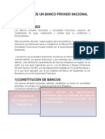 APERTURA de UN BANCO Contabilidad Bancaria