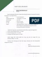 Surat Kelurahan