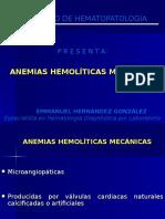 ANEMIAS HEMOLITICAS MECANICAS