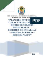 Plan Caracterizacion Huayllay