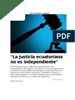 JUSTICIA ECUATORIANA