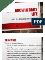 LESSON 3.Qualitative Research