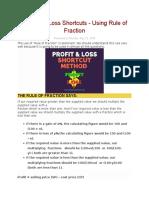 Profit and Loss Shortcuts