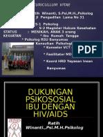DUKUNGAN PSIKOSOSIAL IBU DG HIV 2016.ppt
