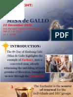 Day 8 - Misa de Gallo 2016 Homily