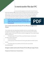 2 Cara Untuk Mentransfer File Dari PC Ke iPhone