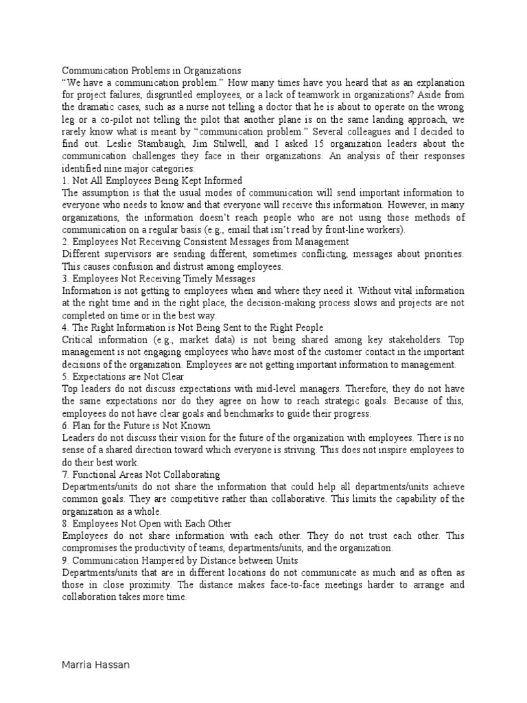 An Analysis of the Topic of the Statements by Westmoreland