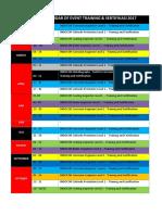 Tentative Calendar of Event 2017