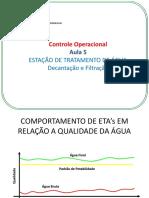 Controle Operacional - ETA Decantação e Filtração