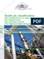 Guide AQUAP de Classification Des Modifications Ou Prépation Des Équipements Sous Pression Soumis à La Réglementation Francaise