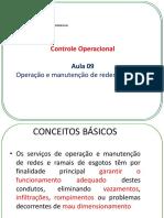 Controle Operacional - Operação e Manutenção de Redes de Esgotos