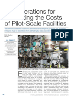 Considerations for Estimating the Costs of Pilot-Scale Facilities