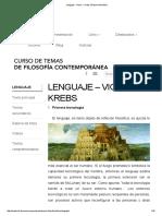 Lenguaje - Victor J