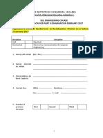 Application Form -Part II Exam-2017