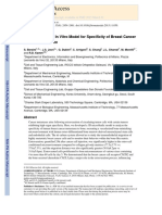 4A Microfluidic 3D in Vitro Model for Specificity of Breast Cancer