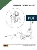Operating Manual PAT-Drill 301T - 301TP