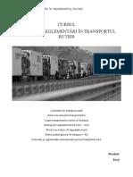 Politici Si Reglementari in Transportul Rutier