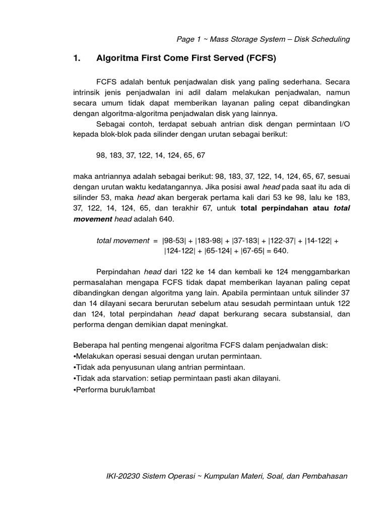 315411466 Disk Scheduling Algorithm Pdf