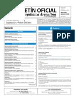 Boletín Oficial de la República Argentina, Número 33.526. 20 de diciembre de 2016