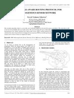 Sleep Awake Aware Routing Protocol for Heterogeneous Sensor Network