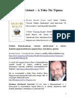 Bernard Lietaer - A Tőke Tíz Típusa