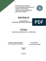 Cociș Petre Florin Referat Strategia Energetică a României
