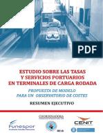 20140125 Estudio Sobre Tasas y Servicios Portuarios Terminales Carga Rodada