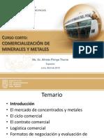 COMERCIALIZACION MINERALES 2015