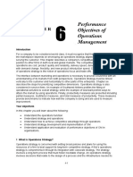 Chapter 6 Performance Objectives of Operations Management