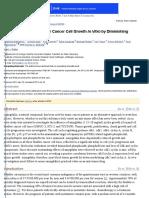 Amygdalin Blocks Bladder Cancer Cell Growth in Vitro by Diminishing Cyclin a and Cdk2
