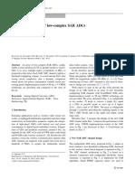 Configurable Array of Low-complex SAR ADCs