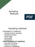 Sampling Methods 1