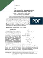Reverse Phase High Performance Liquid Chromatographic Estimation - Taj Pharmaceuticals Mumbai., India