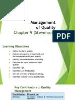 6 Quality Management-Ch-9 (Stevenson)