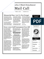 "Spring 2010 Issue of the Pvt Shutt Detachment Newsletter ""Mail Call"""