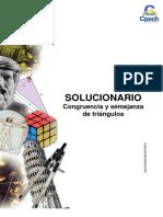 Solucionario Guía Práctica Congruencia y Semejanza de Triángulos 2013