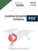 [GEOGRAFIA_2016.03.16] Aula ao vivo_Economias Emergentes e suas Influências