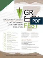 Green Fest 2016 - Program Festivala